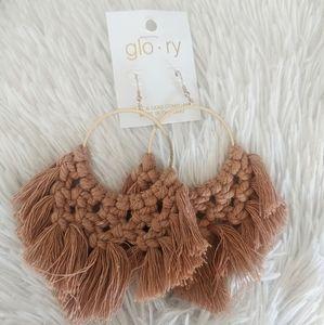 Cute Crochet Hoop Earrings